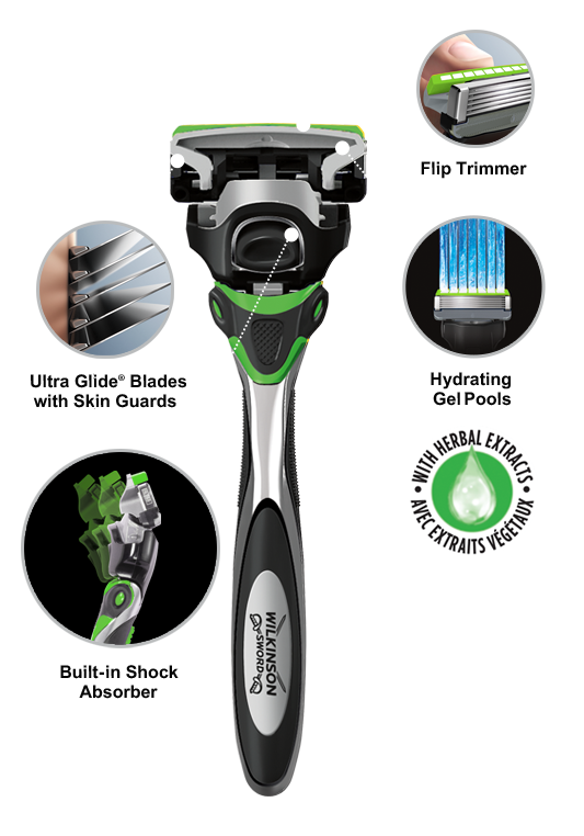 Wilkinson Sword Hydro 5 Sense Comfort razor with blades