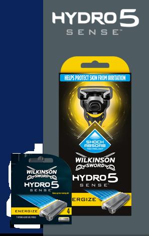 Wilkinson Sword Hydro 5 Sense Energize razor with blades