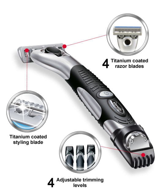 Wilkinson Sword Quattro Titanium Precision razor with blades
