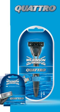 Wilkinson Sword Quattro razor with blades