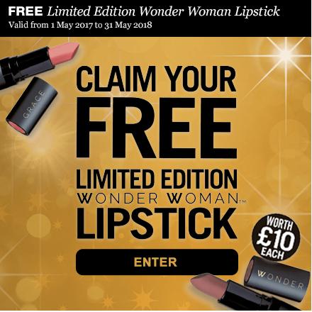 Wonder Woman Lipstick Promo