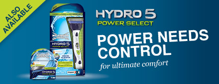 Wilkinson Sword Hydro 5 Power Select razor with blades