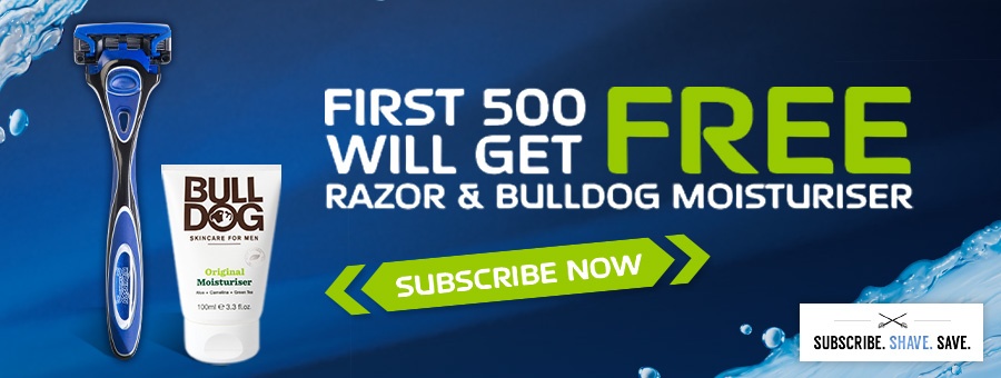 Wilkinson Sword Subscription Free Bulldog promotion